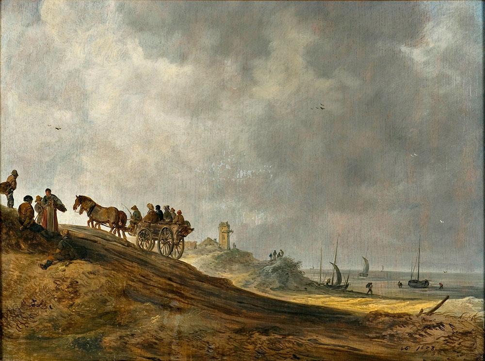 Goyen,-Jan-van---Strandbillede,-1638-0025NMK
