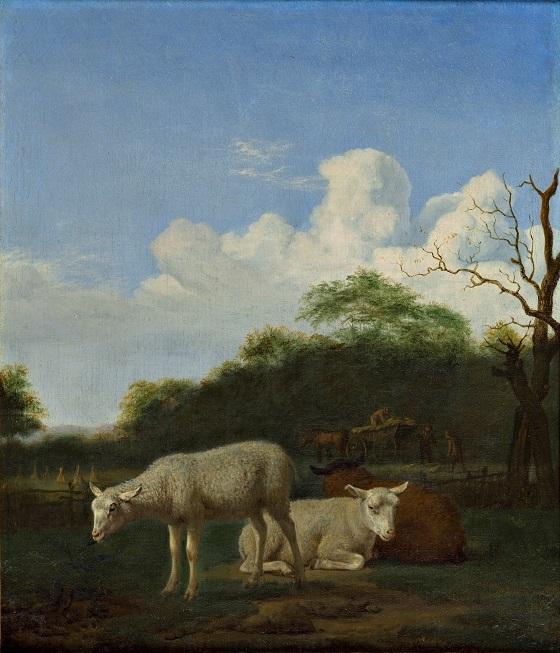 Adriaen van de Velde, De tre får, 1659