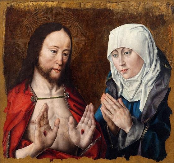 Albrecht Bouts, Kristus viser sin moder naglegabene i sine hænder, ca. 1490