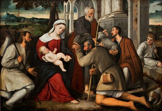 Bonifazio Veronese, Hyrdernes tilbedelse, u.å.