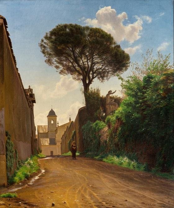 C.A. Kølle, Via San Nicola di Tolentino i Rom, 1871