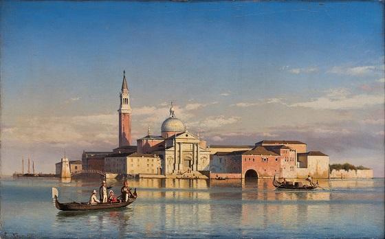 Carl Neumann, St. Giorgio Maggiore i Venezia, u.å.