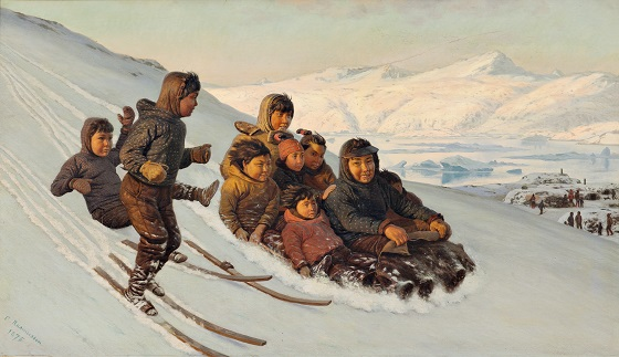 Carl Rasmussen, Ved vintertid i Grønland, 1875