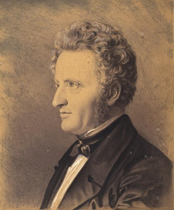 Constantin Hansen, Portræt af Alfred Hage, 1836