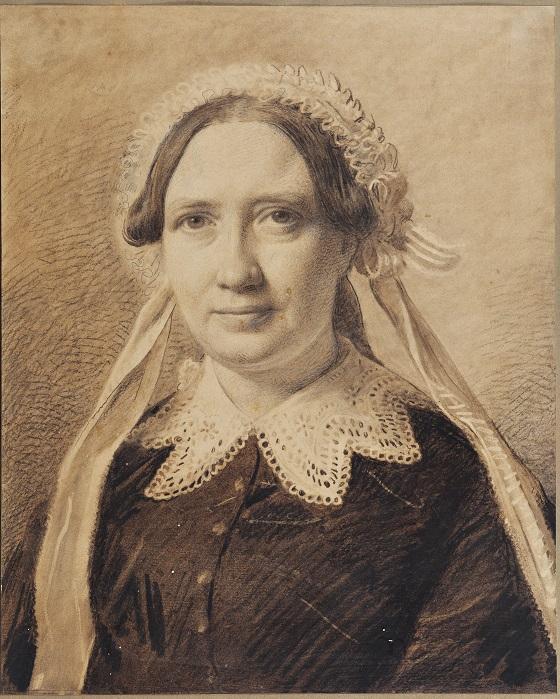 Constantin Hansen, Portræt af Frederikke Vilhelmine Hage, f. Faber, 1836
