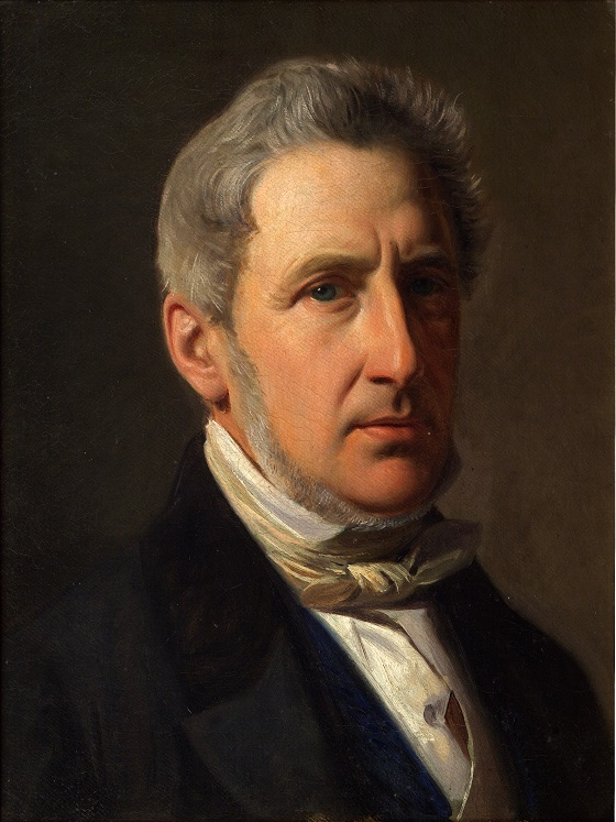 Constantin Hansen, Portræt af godsejer Alfred Hage, ca. 1856
