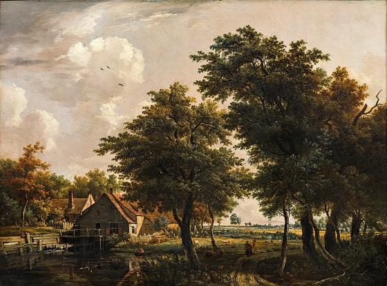 Egbert van Drielst, Landskab med vandmølle, u.å.