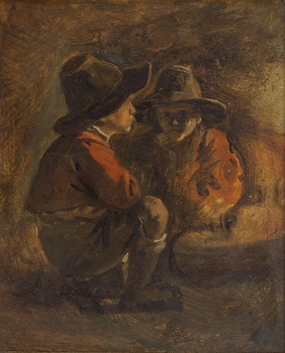 Ernst Meyer, To italienske drenge, u.å.