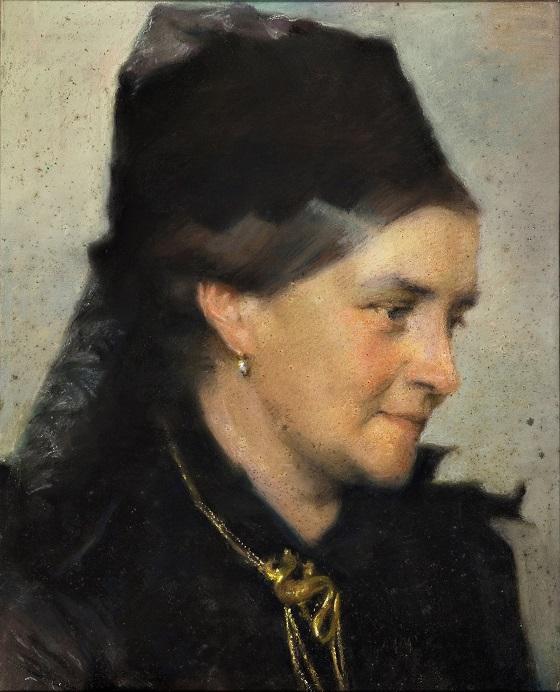 Frans Schwartz, Portræt af Vilhelmine (Ville) Heise, f. Hage, u.å.