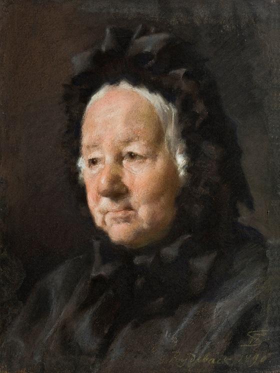 Frans Schwartz, Portræt af fru pastorinde Tidemand, 1890