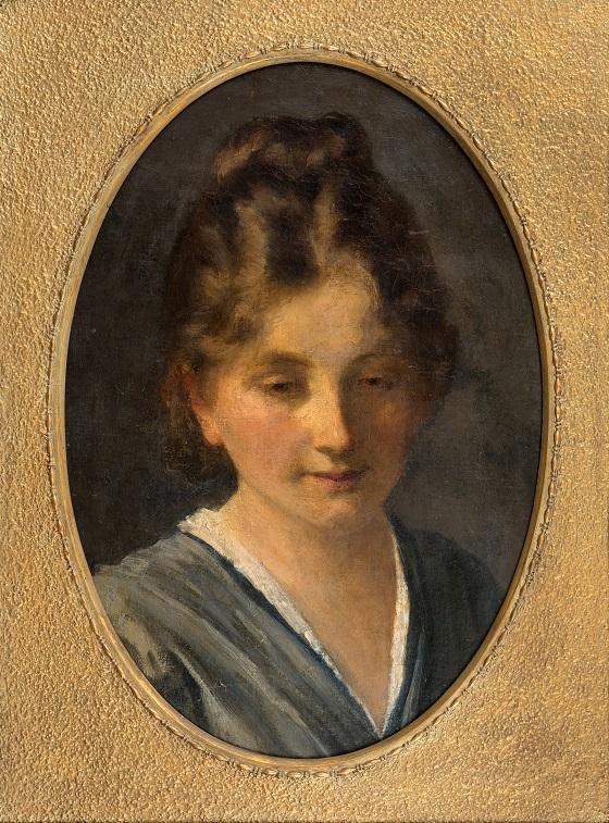 Frans Schwartz, Portrætstudie af en ung pige (fr. Karen Poulsen), u.å.