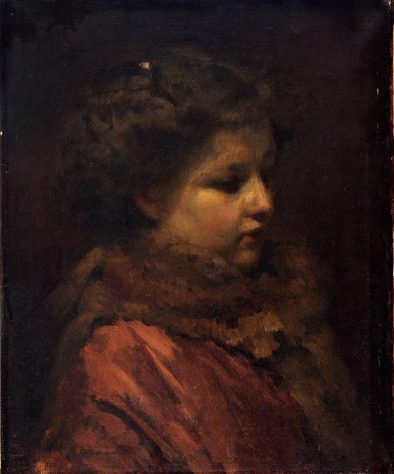 Frans Schwartz, Studiehoved af en ung pige, 1912