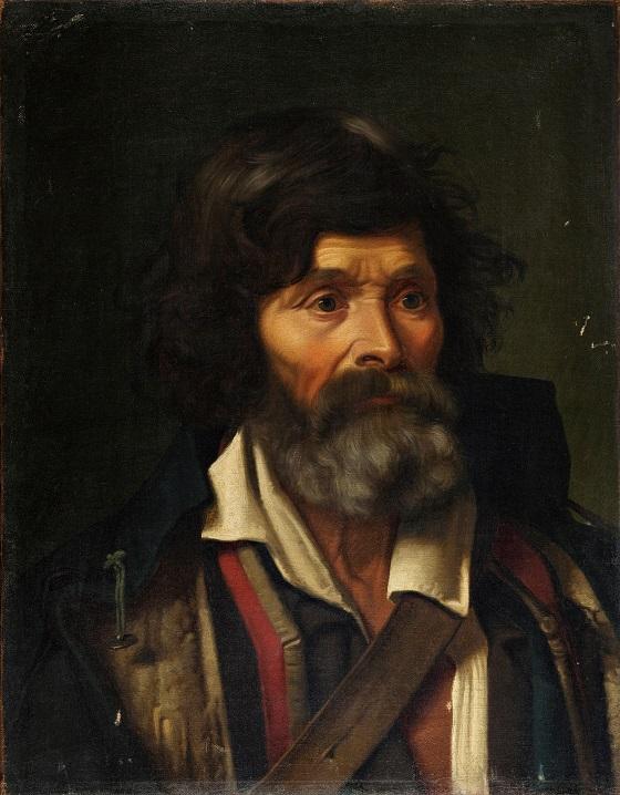 Frederik Vermehren, Brystbillede af en gråskægget italiensk landboer, 1856