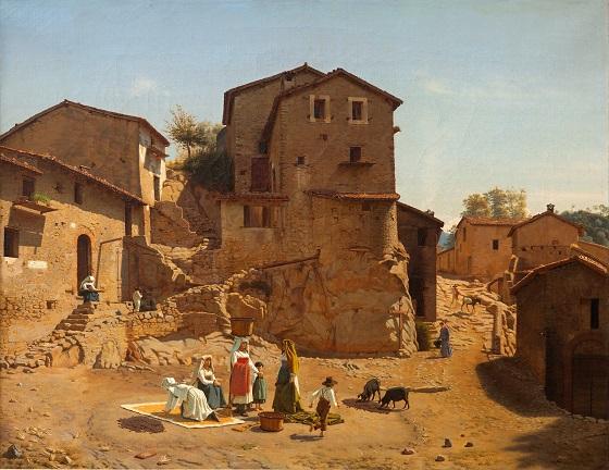 Frederik Vermehren, Gadeparti fra Gerano i Sabinerbjergene, 1856
