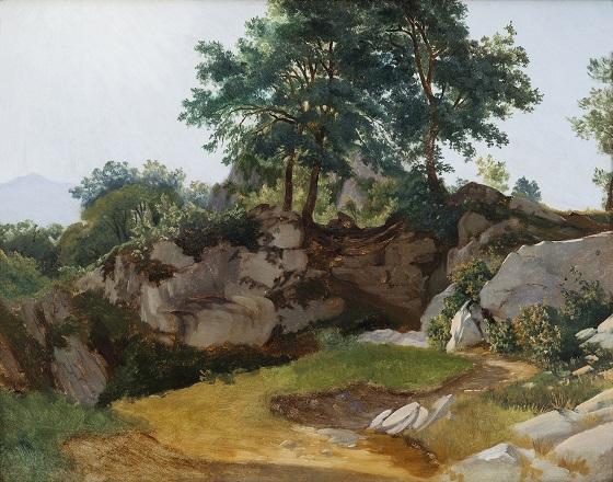 Fritz Petzholdt, Italiensk bjerglandskab, 1831
