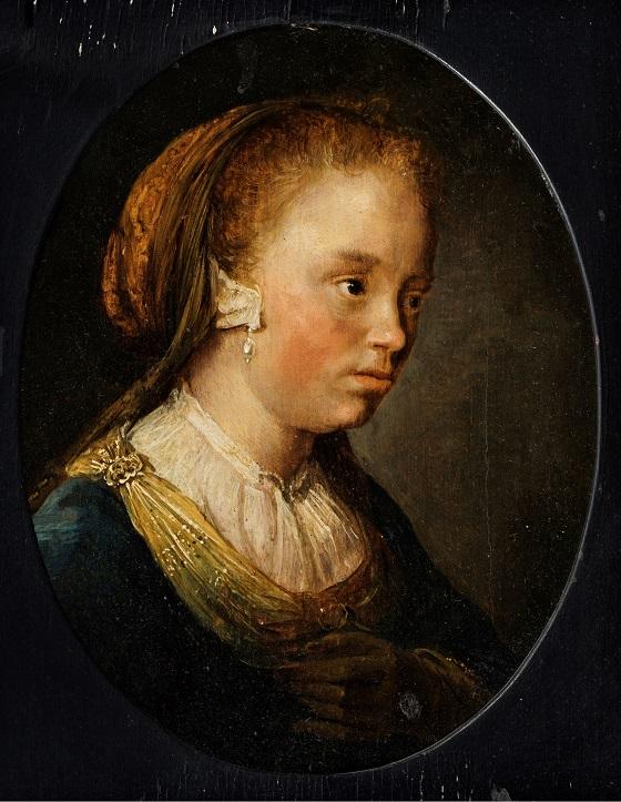Gerrit Dou, Portræt af en ung pige, 1650-1675