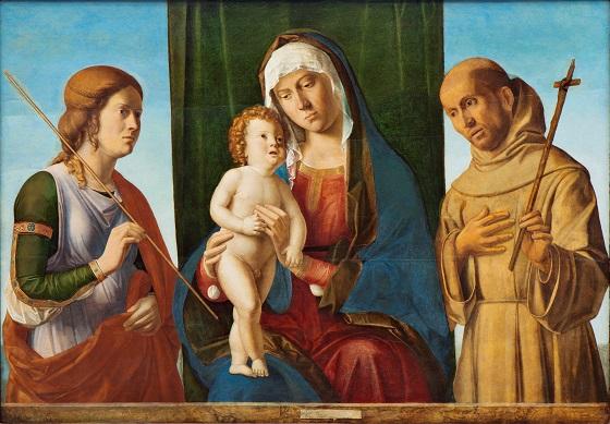 Giovanni Battista Cima da Conegliano, Madonna med Kristusbarnet mellem to helgener, ca. 1495