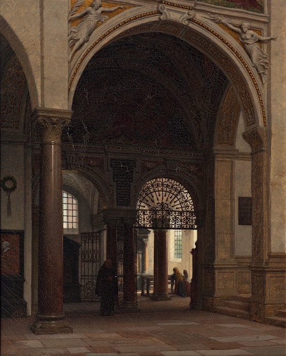 Heinrich Hansen, Fra Santa Maria delle Grazie kirken i Milano, 1874