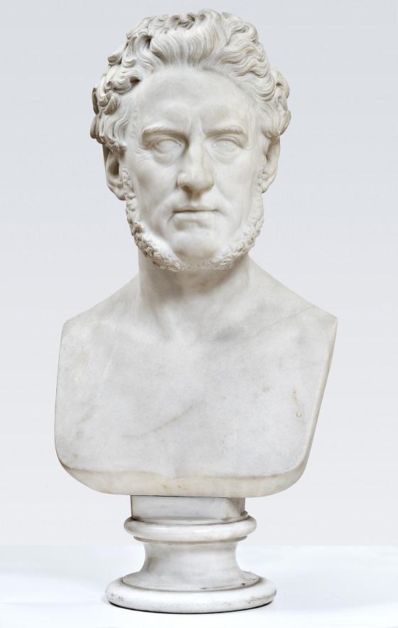 Herman Wilhelm Bissen, Buste af grosserer og politiker Alfred Hage, 15. februar 1856
