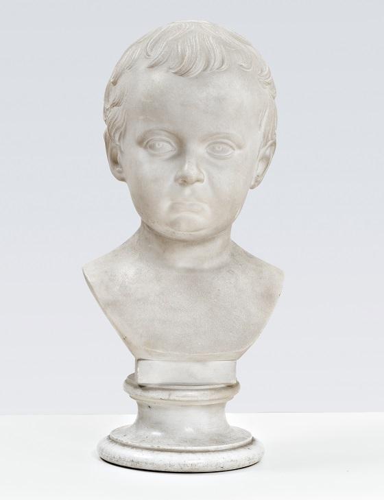 Herman Wilhelm Bissen, Marmorbuste af den som barn afdøde Hother Hage, 1848