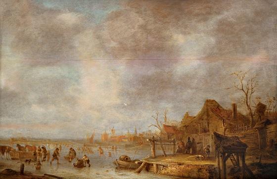 Isaak van Ostade, Vinterdag udenfor Haarlem,  1636-1649