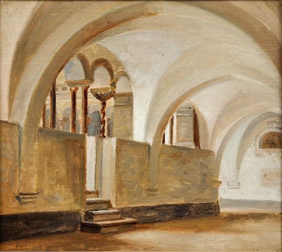 Jørgen Roed, Italiensk klostergård, u.å.