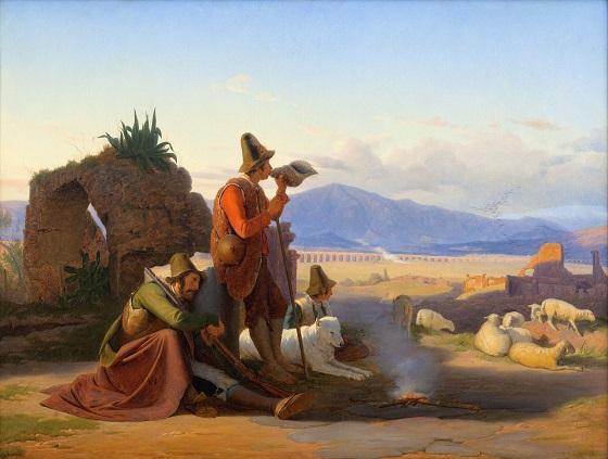 Jørgen Sonne, Hyrder i den romerske campagna, 1835