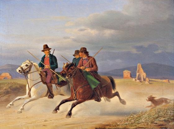 Jørgen Sonne, Tre ridende kampagnoler, 1872