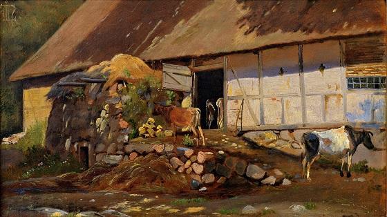 J. Th. Lundbye, Udenfor kostalden, 1847