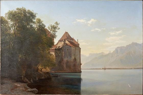Janus la Cour, Slottet Chillon ved Genfersøen, 1876