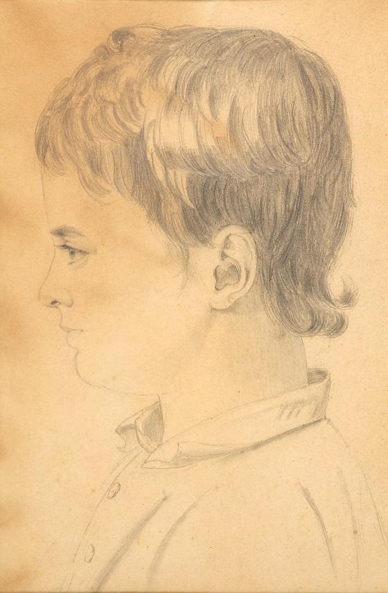 Johanne Vilhelmine Bissen, Portræt af Johannes-Alfred Hage, 1800-tallet