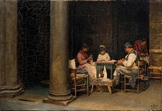 Kristian Zahrtmann, Palazetto Farneses gård, 1883