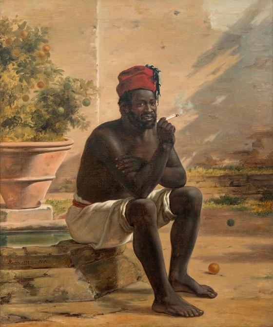 Martinus Rørbye, En siddende nubier, Rom, 1839