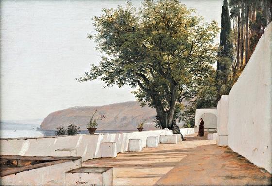Martinus Rørbye, Parti i nærheden af Sorrento med udsigt til havet, 1835