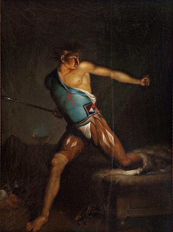 Nicolai Abildgaard, Richard III farer op af lejet skrækslagen af drømmesyner. Shakespeare 5. akt,  9. scene, u.å.