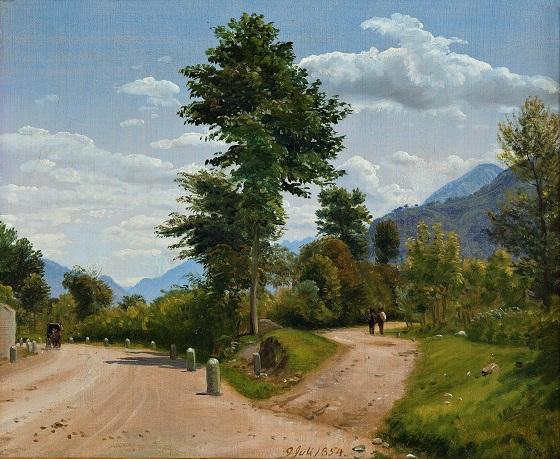 P.C. Skovgaard, Landevej i Sabinerbjergene, 1854