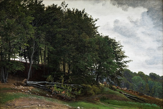 P.C. Skovgaard, Skovklædte bakker, 1864