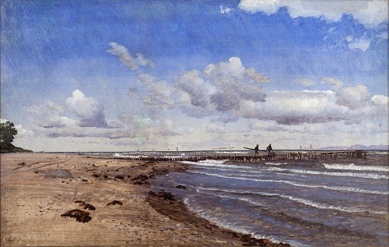 P.C. Skovgaard, Stranden ved Hellebæk, 1858