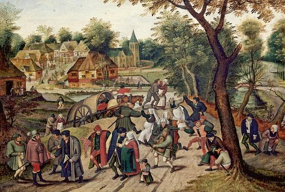 Pieter Brueghel d.Y., Hjemturen fra kermessen, 1620'erne