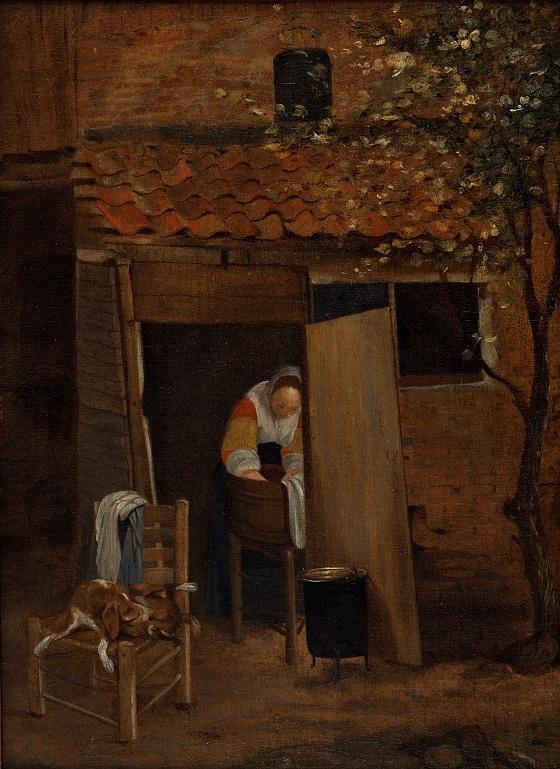Pieter de Hoorch, Vaskepigen, u.å.