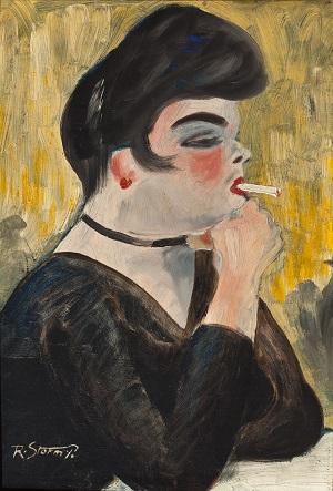Pigen med cigaretten, 1909