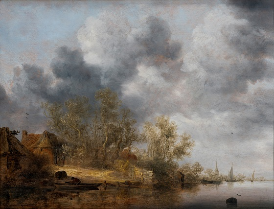 Salomon van Ruysdael, En hollandsk flodbred, 1630-1635