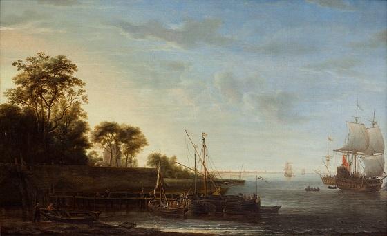 Simon Jacobz de Vlieger, Kystparti ved Zuydersøen, 1645