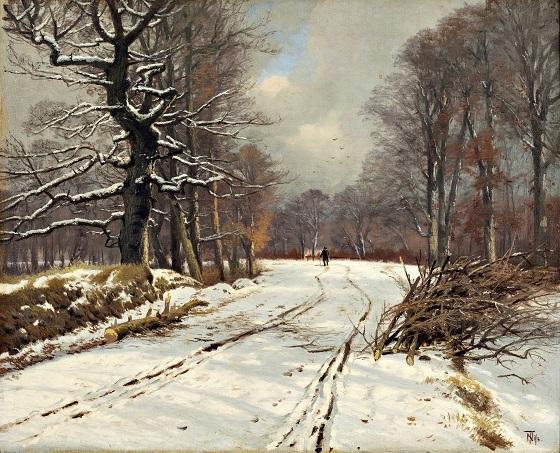 Thorvald Niss, Vinterbillede fra skovene ved Hillerød, u.å.