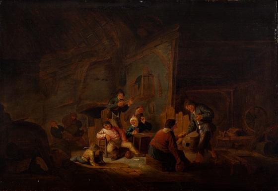 Ubekendt kunstner, Lystighed i en bondestue, ca. 1650