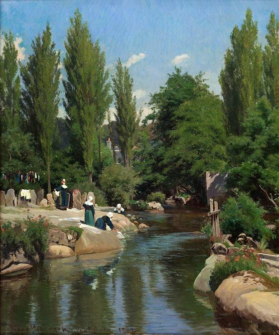 Viggo Pedersen, Vaskested ved en å i Bretagne, 1882