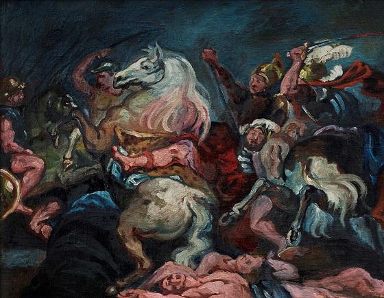 Vilhelm Lundstrøm, Kopi efter Rubens, Konsul Decius Mus' død (Prado, Madrid) ca. 1920