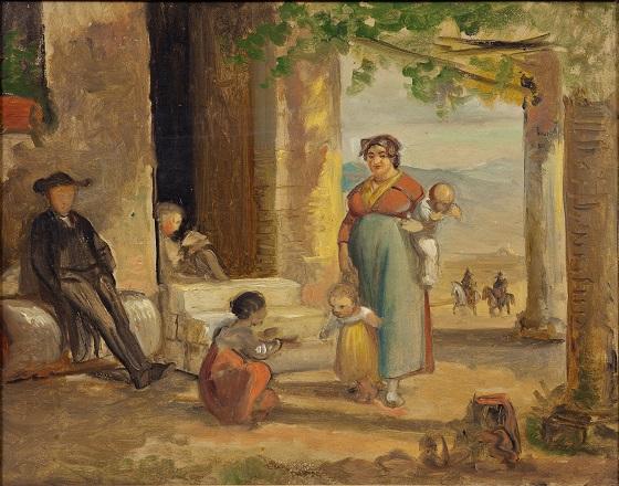 Wilhelm Marstrand, Barnet lærer at gå, før 1859