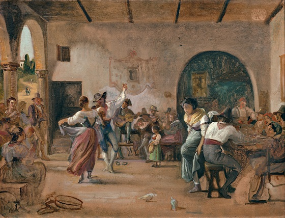 Wilhelm Marstrand, Dans i et osteri, ca. 1860