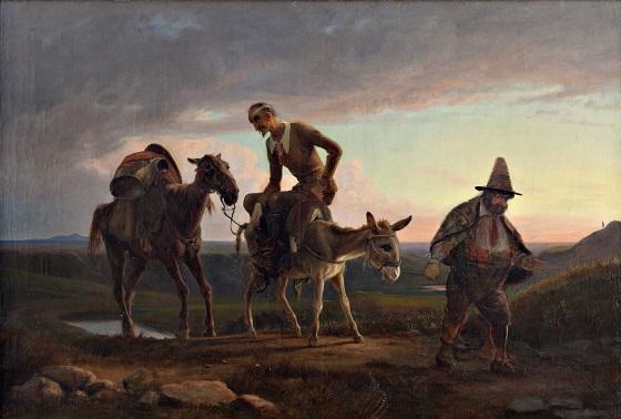 Wilhelm Marstrand, Don Quixotes første hjemtog, u.å. (efter 1847)
